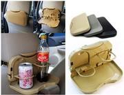 Складной обеденный столик для авто с подставками для бутылок 46114