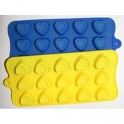 Силиконовая форма Сердечки или треугольнички 46106-43080