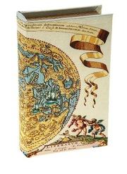 Ключница книжка шелк Карта Коперника 46364