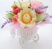 Велосипед- букет в подарок любимому человеку+ игрушка